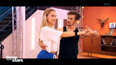 DALS 2021 – Répétitions – Aurélie Pons et Adrien Caby : leur première rencontre