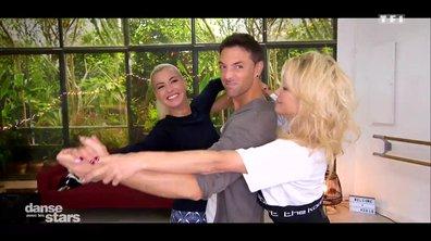 """Répétitions : Pamela Anderson et Maxime """"ménage à trois"""""""