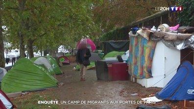 Reportage au camp de migrants à la porte d'Aubervilliers
