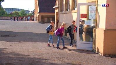 Reprise des cours pour les élèves de l'école Jacques-Prévert de Yutz, en Moselle