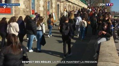 Respect des règles : la police maintient la pression