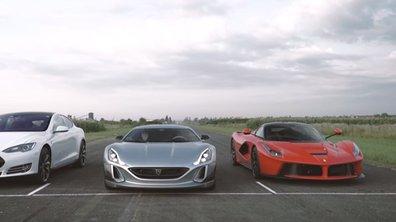 La Rimac Concept One se mesure à la Tesla Model S et la Ferrari LaFerrari