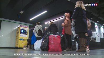 Rome échange les bouteilles en plastique contre un ticket de métro