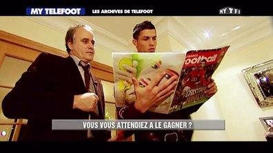 Les archives de Téléfoot du 7 décembre 2014 : Ronaldo reçoit son 1er Ballon d'Or !