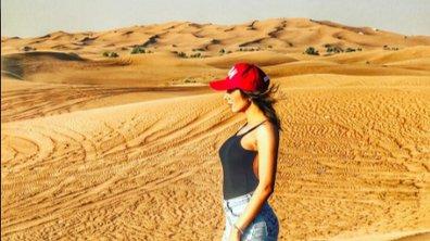 Sarah Lopez ultra sensuelle dans le désert de Dubaï