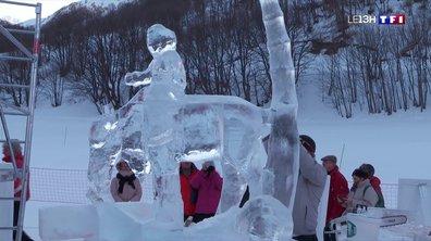 Sculpture sur glace, un art minutieux qui demande de la patience
