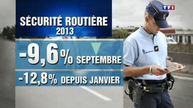 Sécurité routière : mortalité en baisse de 10% en septembre 2013