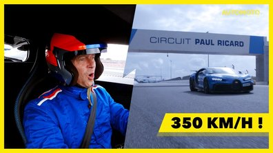 Automoto Sensation : En immersion à plus de 350km/h en Bugatti Chiron Pur Sport !