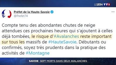 Sept mort dans deux avalanches en Savoie