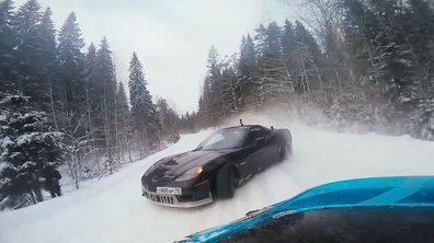 Le Ken Block russe Drift sur la glace