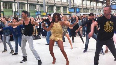 Shy'm et Maxime, gagnants de Danse avec les Stars 2, créent le show à la gare de Lyon
