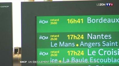 SNCF : un éboulement provoque l'interruption du trafic