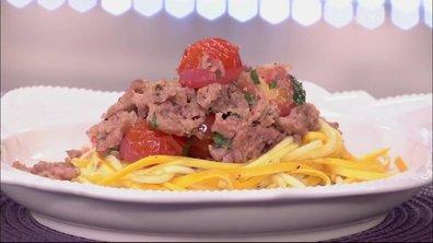 Spaghetti de courgettes à la tomate (façon bolognaise)