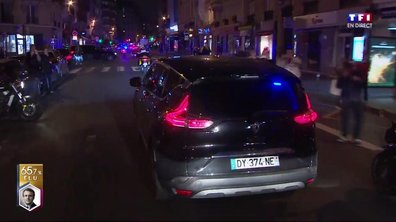 Emmanuel Macron en route pour le Louvre