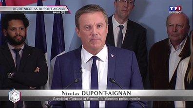 Présidentielle : le discours en intégralité de Nicolas Dupont-Aignan
