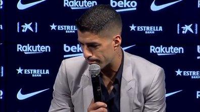VIDEO - Suarez en larmes pour son départ du Barça