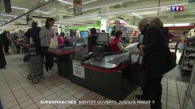 Supermarchés : bientôt ouverts jusqu'à minuit ?