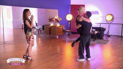 Cathy et Stéphane dansent avec Silvia Notargiacomo