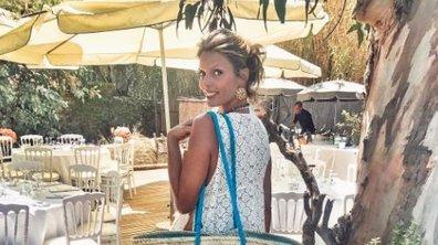 Sylvie Tellier très élégante dans sa robe de mariée