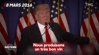 Taxes sur le vin américain : et si Trump voulait juste favoriser son propre vignoble ?