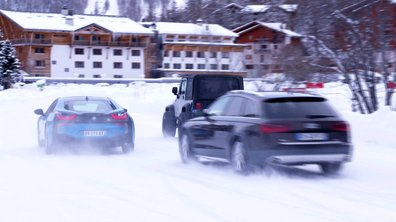 Teaser : Automoto emmène un trio Jeep Wrangler-BMW i8-Audi A6 Allroad au Val d'Isère le 10 janvier 2016