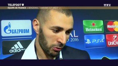 """Equipe de France - Benzema  : """"Je suis déçu, mais c'est la vie"""""""