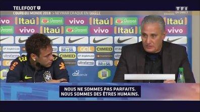 Brésil : Neymar craque et pleure en direct !