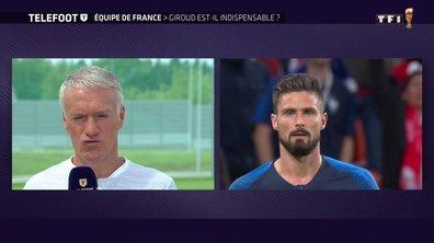 """Deschamps : """"Giroud permet de bien faire jouer les autres"""""""