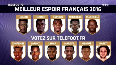 [Téléfoot 27/11] Elisez le meilleur espoir français 2016 !