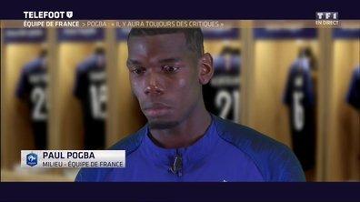 """Equipe de France - Pogba : """"Il y aura toujours des critiques"""""""