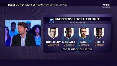 Equipe de France : Une défense décimée