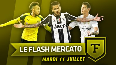 Le Flash Mercato du 11 juillet : James, Aubameyang, Daniel Alves