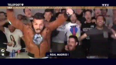 La joie des joueurs de Leonesa quand ils apprennent qu'ils vont jouer contre le Real Madrid