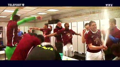 La joie des joueurs du FC Metz après leur montée en Ligue 1