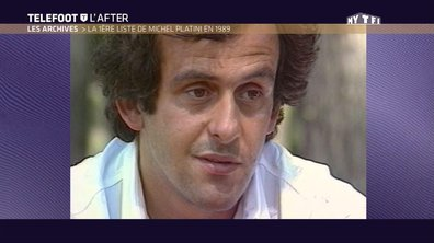 Téléfoot, l'After - Archives: La 1ère liste de Michel Platini en 1989