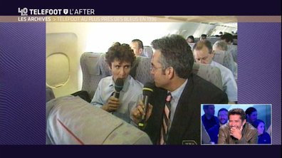 Téléfoot, l'After - Bixente Lizarazu interviewé par Pascal Praud dans un avion
