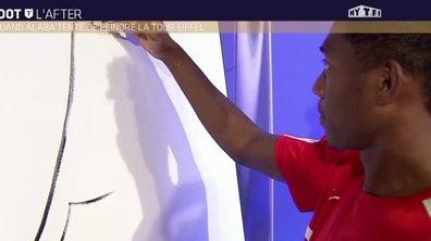 MyTELEFOOT L'After - Buzz : Alaba tente de peindre la Tour Eiffel