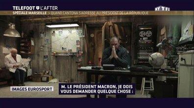 Téléfoot, l'After - Le buzz Cantona - Macron
