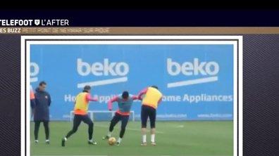 Téléfoot, l'After - Le Buzz : Neymar met un petit pont à Piqué