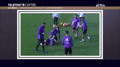 Téléfoot, l'After - Le Buzz : Sergio Ramos découpe à l'entraînement