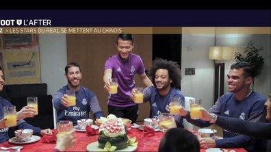 Téléfoot, l'After - Le Buzz : Les stars du Real se mettent au chinois !