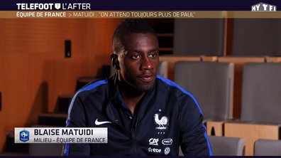 "Téléfoot, l'After - Matuidi : ""On attend toujours plus de Paul Pogba"""