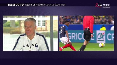 """Lemar au Mondial ? """"Il fait tout pour y aller"""" selon Didier Deschamps"""