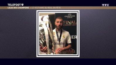 Ligue des champions : Le vestiaire du Real Madrid en fête