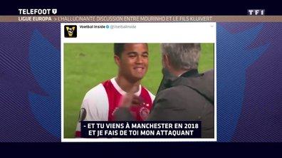 Ligue Europa : L'hallucinante discussion entre Mourinho et le fils Kluivert