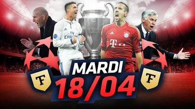 La Quotidienne du 18/04 : Zidane et Ronaldo vs Ribéry et Ancelotti