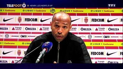 Thierry Henry, les nerfs à vifs