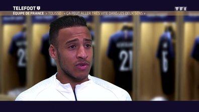 """Equipe de France - Tolisso : """"Ca peut aller très vite dans les deux sens"""""""