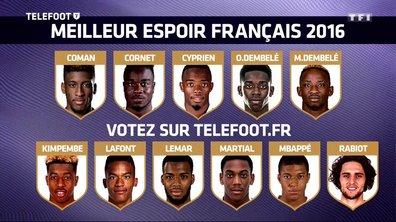 Trophée Téléfoot : Votez pour le Meilleur espoir français !