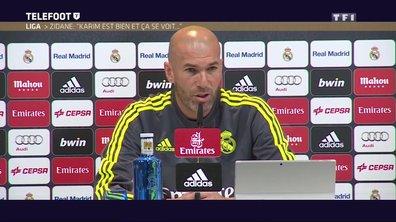 """Zidane : """"Karim est bien et ça se voit"""""""